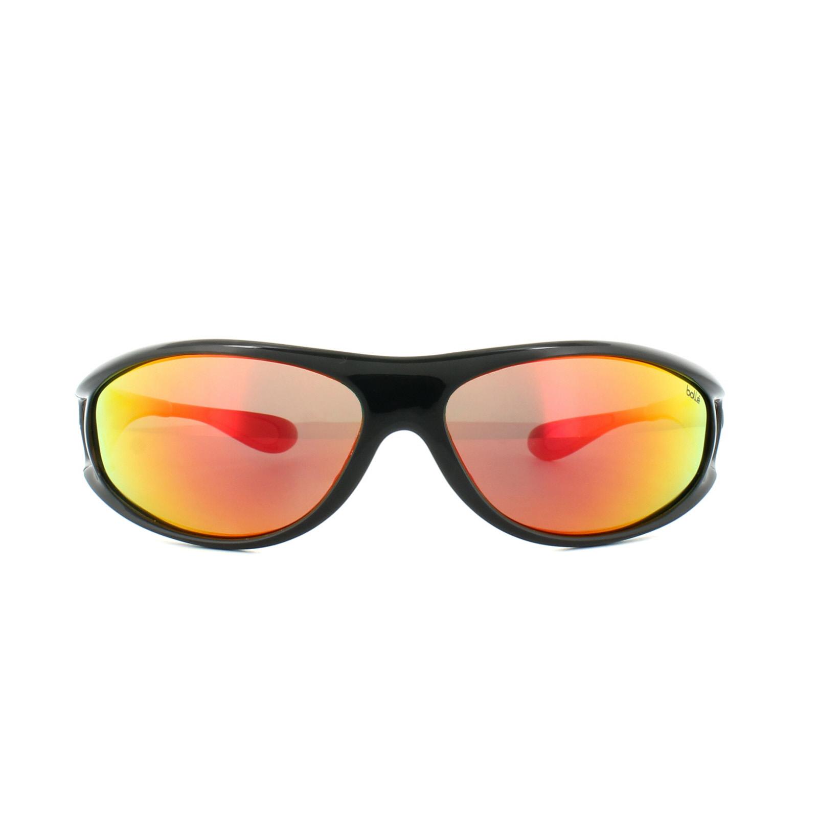 Bolle occhiali da sole spirale 11705 nero brillante rosso - Specchio polarizzato ...