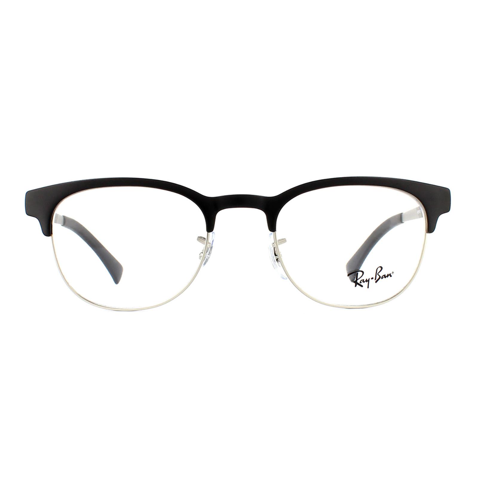 Ray-Ban Glasses Frames 6317 2832 Top Black On Matte Silver ...