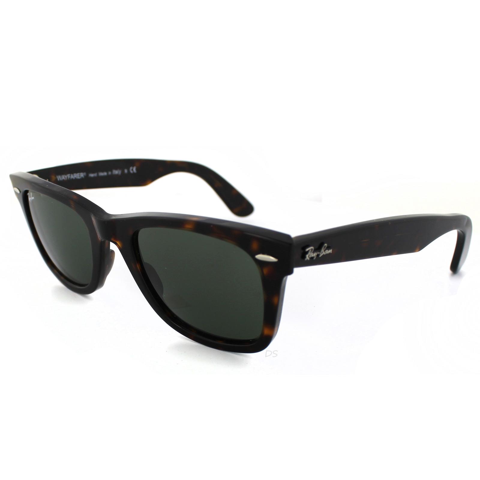 ray ban sunglasses wayfarer 2140 902 tortoise green g 15 medium 50mm ebay. Black Bedroom Furniture Sets. Home Design Ideas