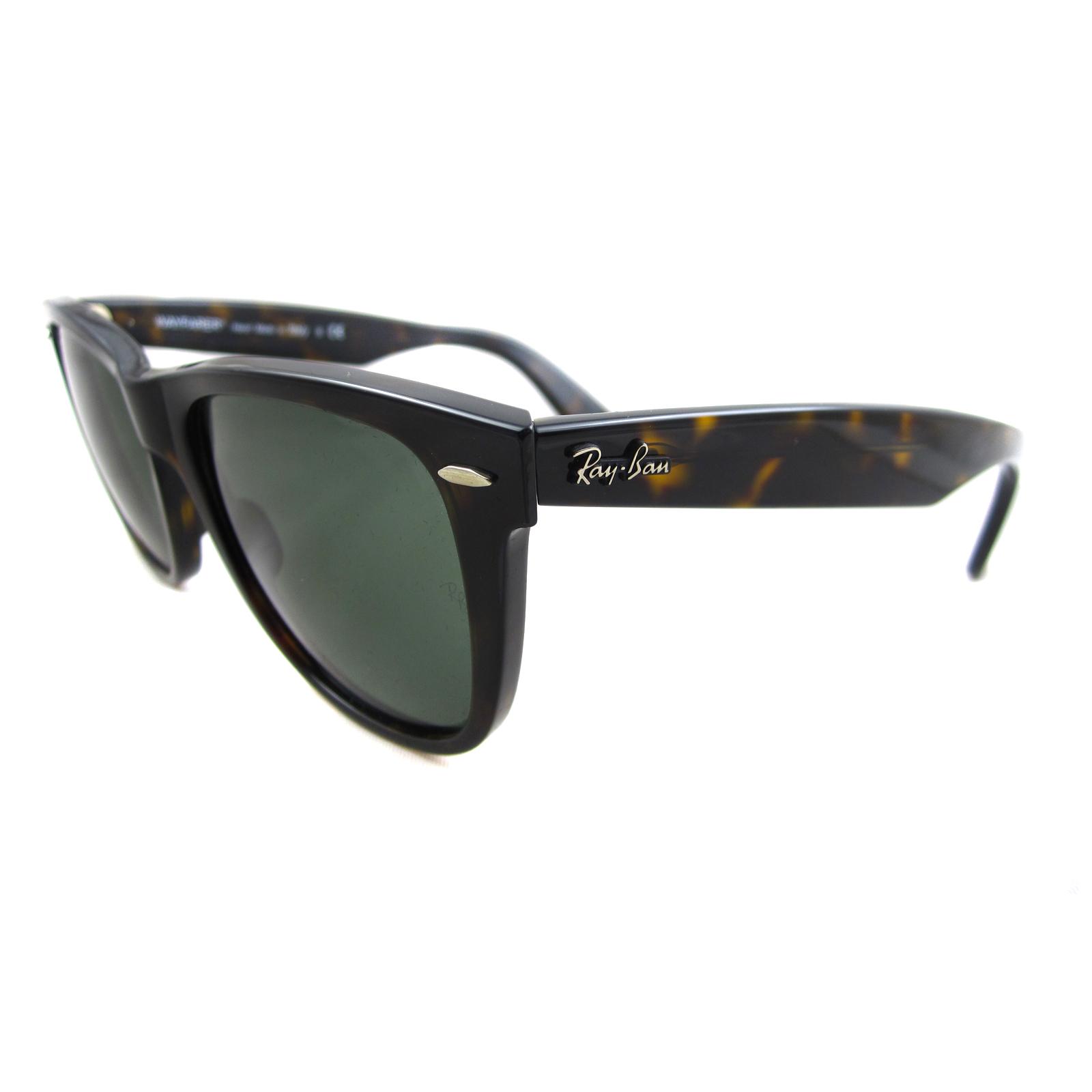 ray ban 902  Ray-Ban Sunglasses Wayfarer 2140 902 Tortoise Green G-15 Large 54mm