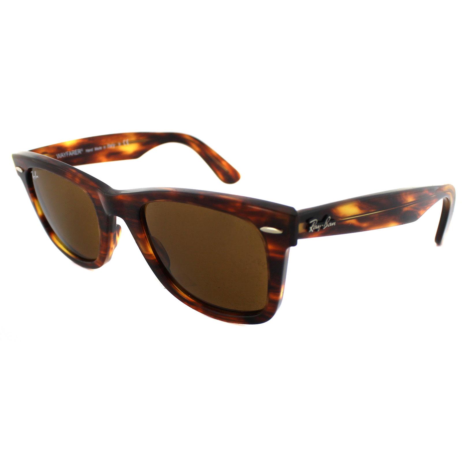 ray ban sunglasses wayfarer 2140 954 light tortoise brown medium 50mm ebay. Black Bedroom Furniture Sets. Home Design Ideas