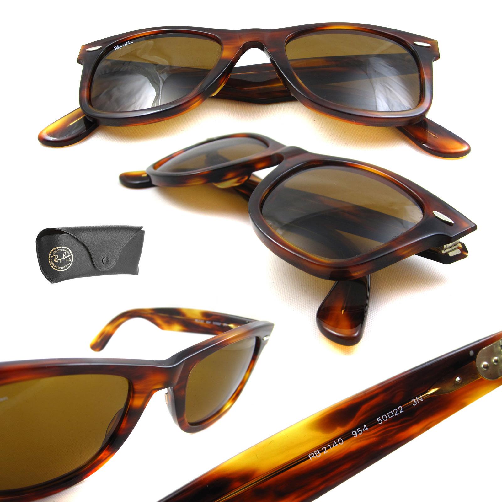 ray ban 2140 sale  Rayban Sunglasses Wayfarer 2140 954 Light Tortoise 50mm