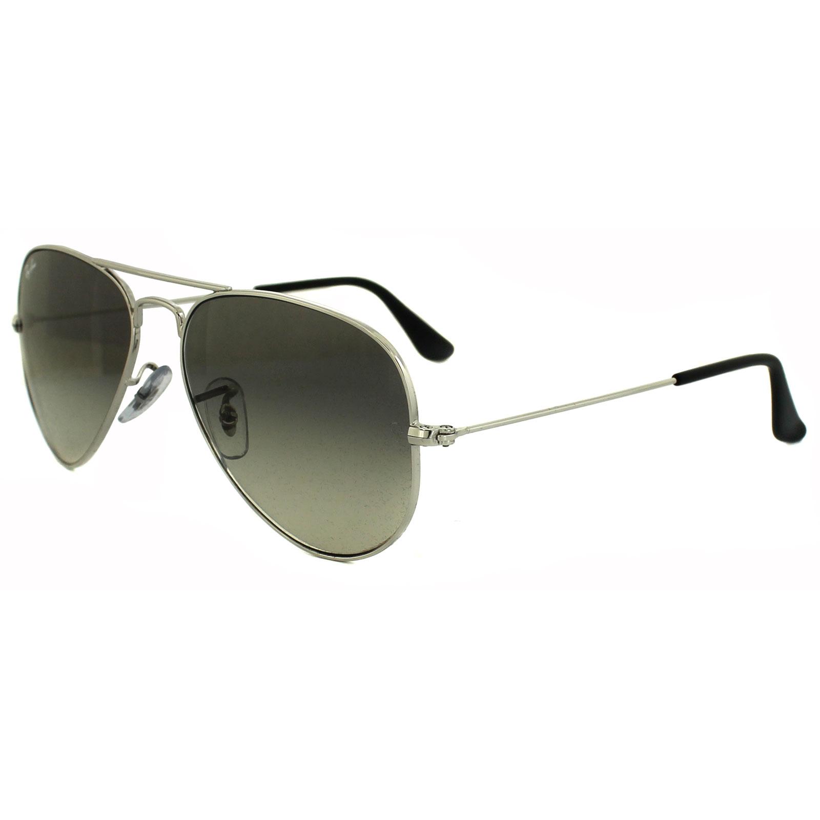 ray ban sonnenbrille aviator 3025 003 32 silver grey. Black Bedroom Furniture Sets. Home Design Ideas