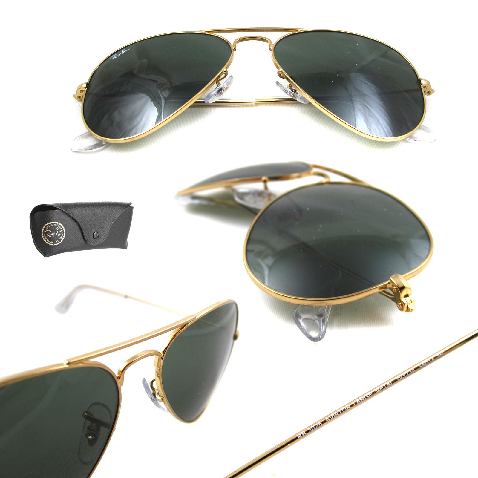 ray ban sonnenbrille aviator 3025 w3234 gold gr n. Black Bedroom Furniture Sets. Home Design Ideas