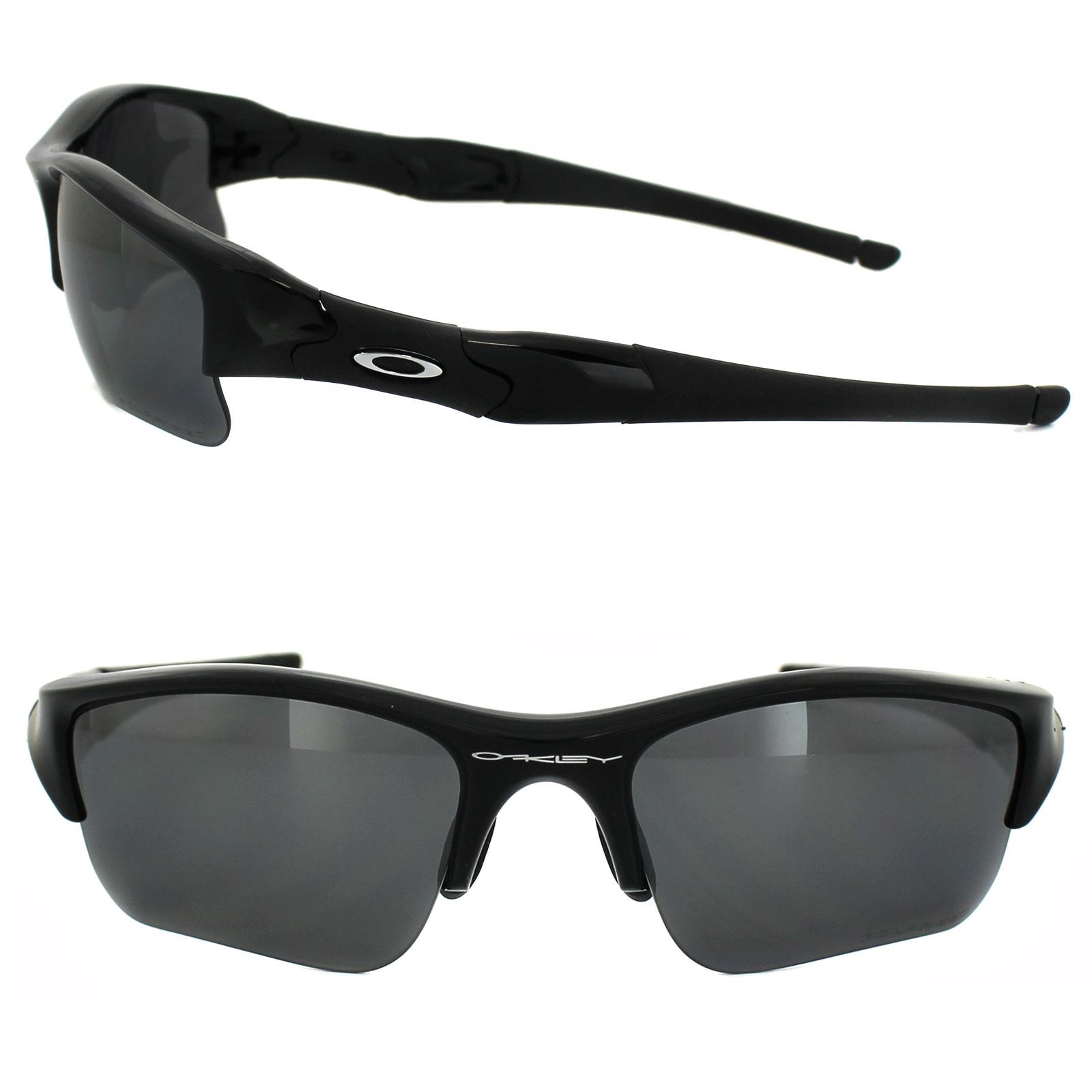 f0c3421dfd Oakley Sunglasses Flak Jacket XLJ Jet Black Iridium Polarized 12-903