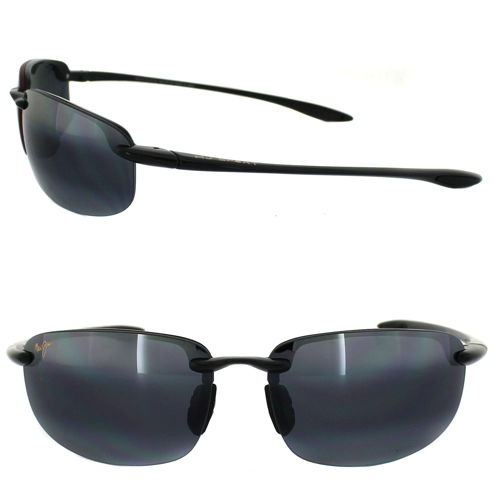 Maui Jim Sunglasses Hookipa 407-02 Gloss Black Grey ...