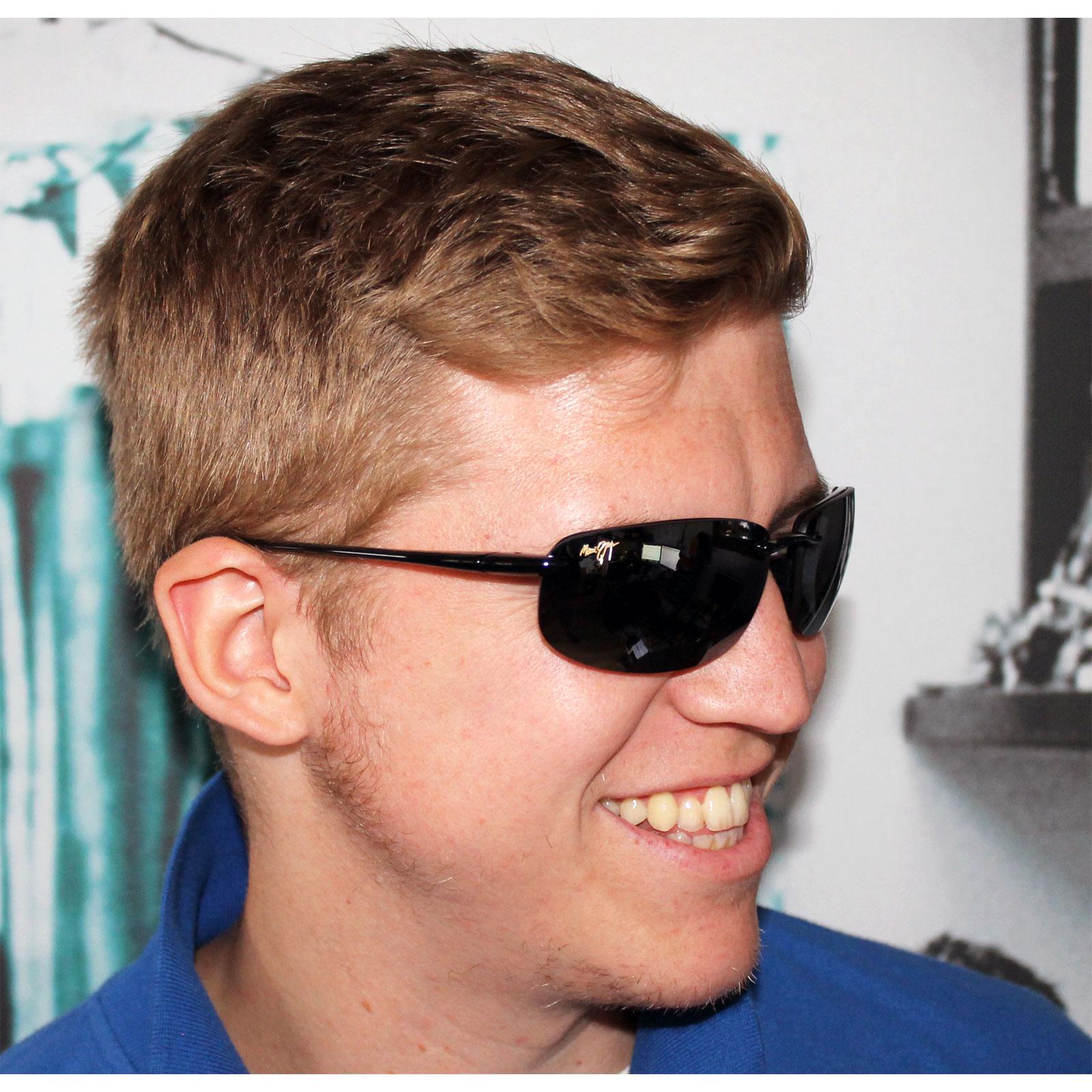 Maui Jim Sunglasses Ebay  maui jim sunglasses hookipa 407 02 gloss black grey polarized ebay