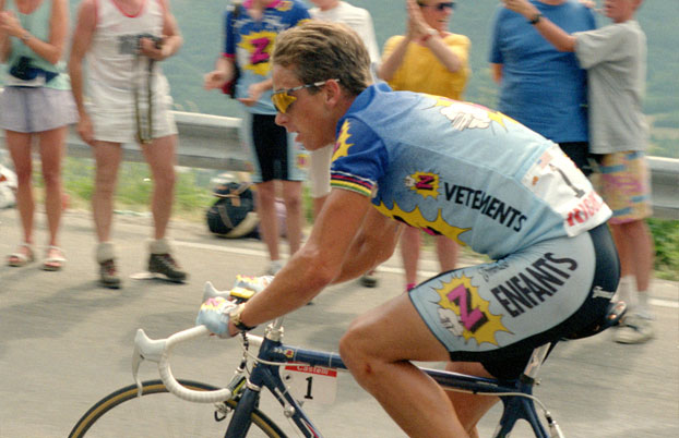 Greg Le Monde won the Tour de France in 1986 whilst donning a pair of Oakley sunglasses by Discounted sunglasses