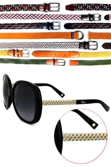 woven belts influence 2015 sunglass styles