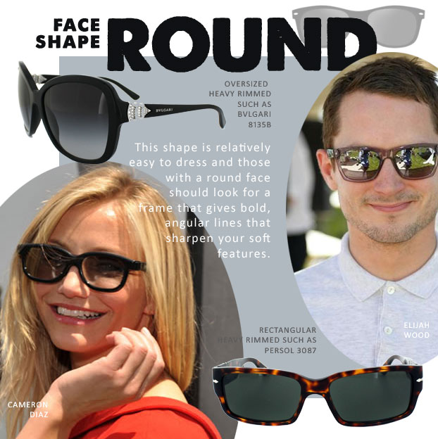 Sunglasses For Fat Face  face shape guide for sunglasses ed sunglasses