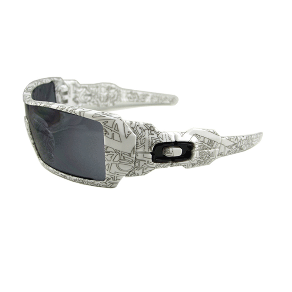 rlgfu White Oakley Oil Rig Sunglasses