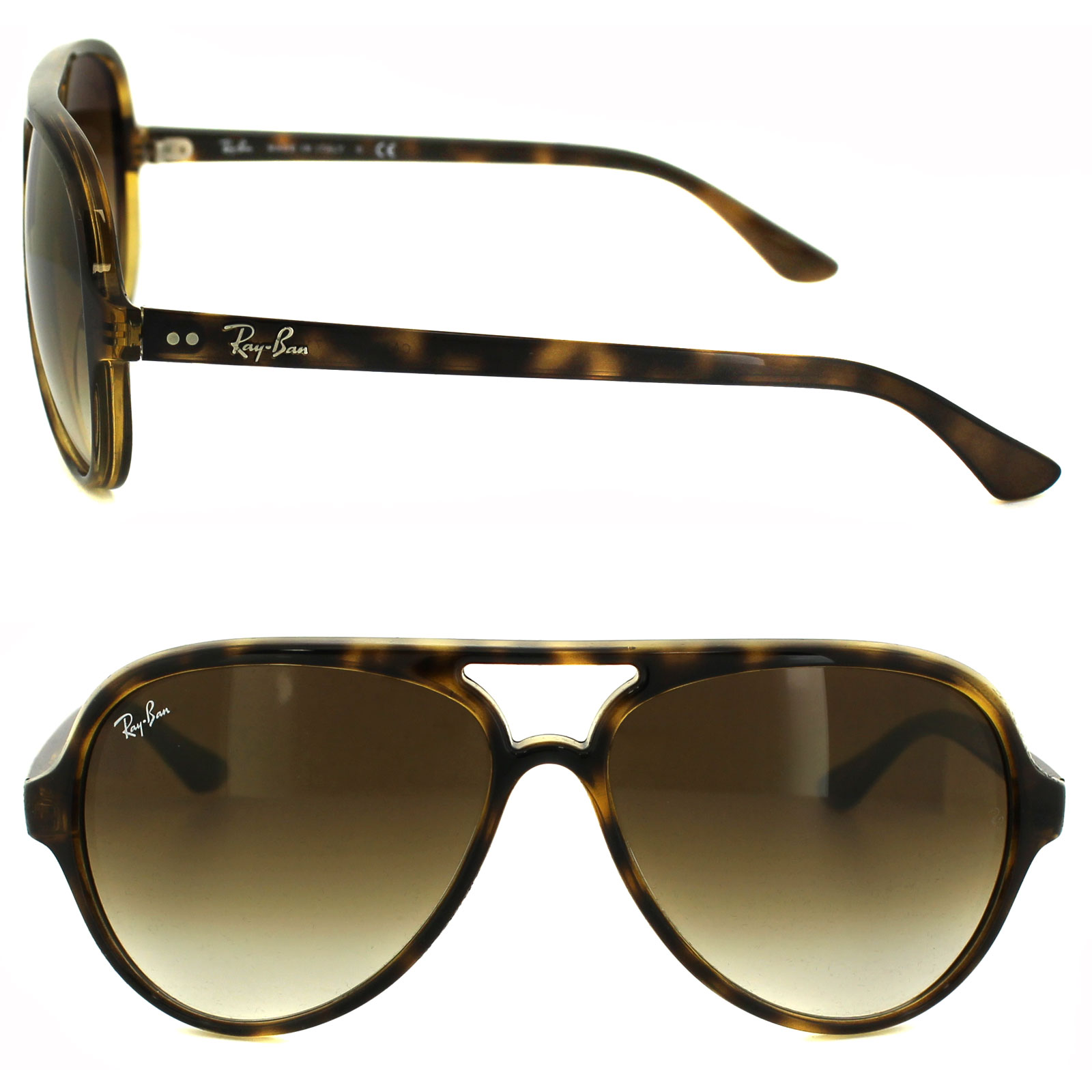 ray ban sunglasses cats 5000 4125 710 51 havana brown ebay. Black Bedroom Furniture Sets. Home Design Ideas