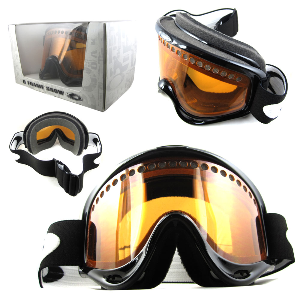 oakley o frame snow goggles  o frame snow goggles jet black persimmon