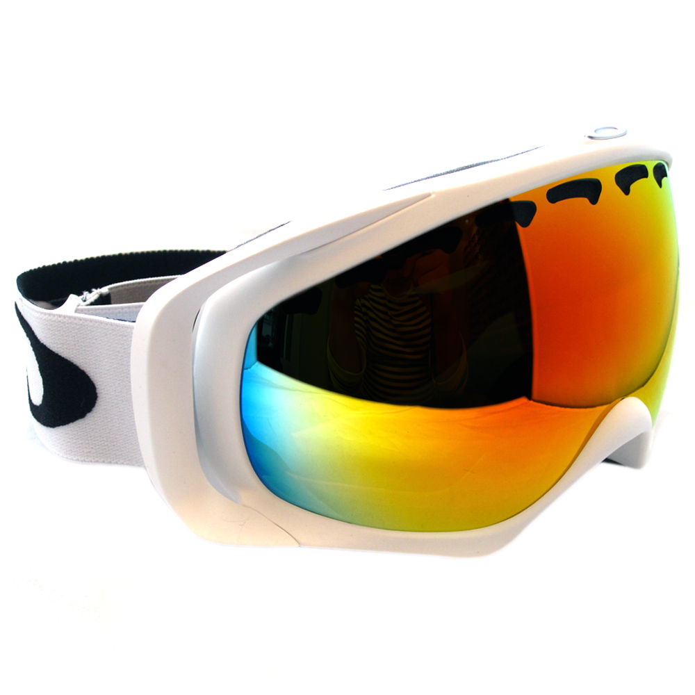 cheap oakley snowboard goggles  Cheap Oakley Ski Snow Goggles Crowbar Matte White Fire 02-018 ...