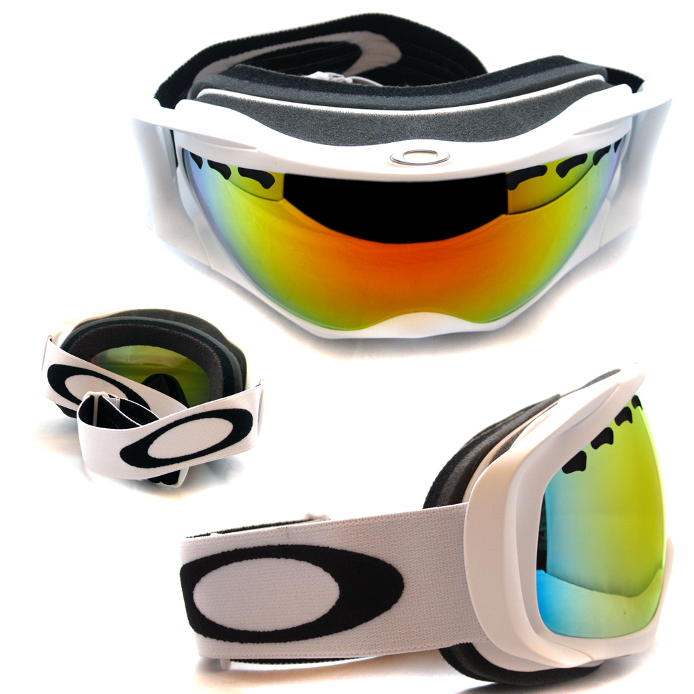 oakley 02 goggles  Cheap Oakley Ski Snow Goggles Crowbar Matte White Fire 02-018 ...