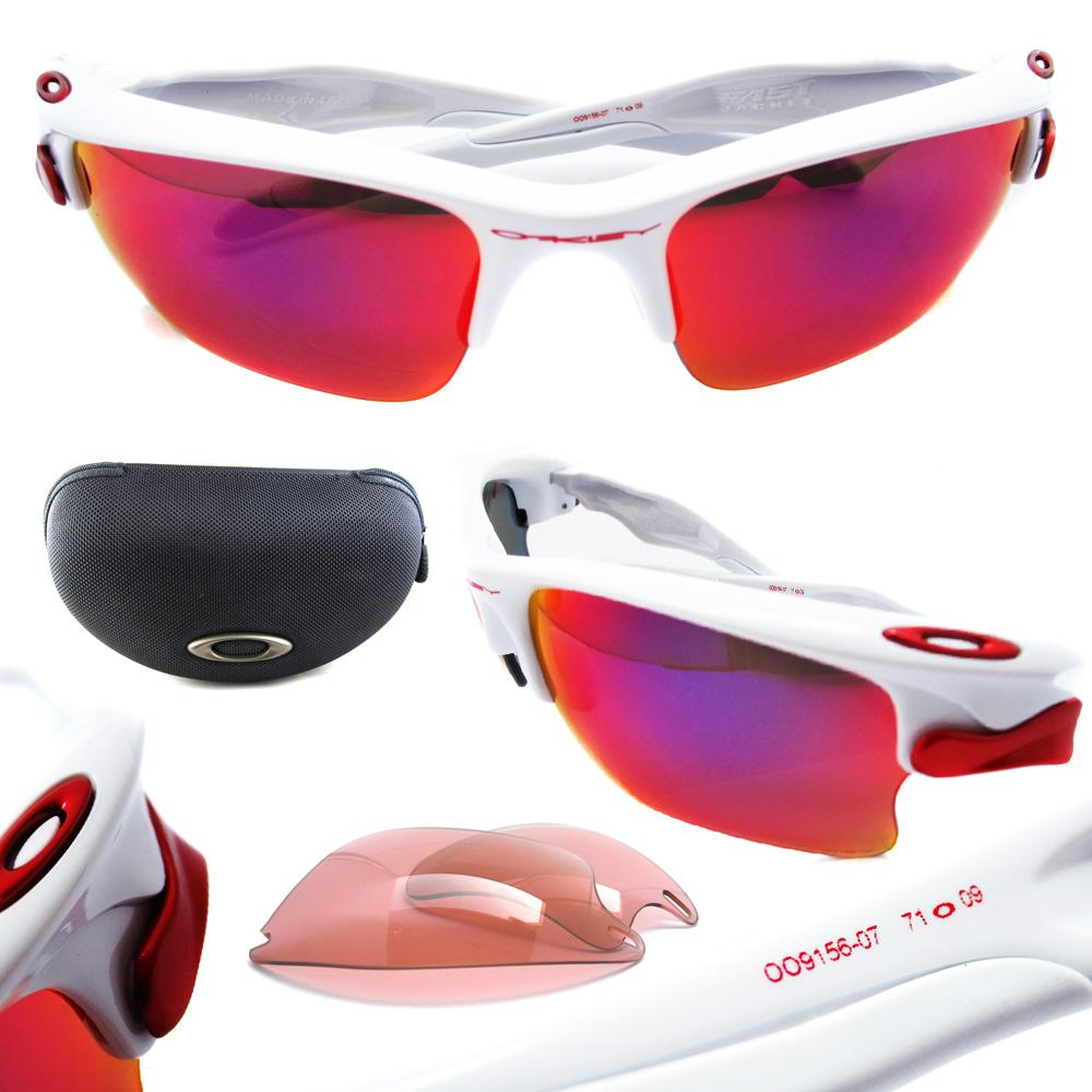 fast jacket oakley sunglasses kh9h  Sentinel Oakley Sunglasses Fast Jacket XL White OO Red Polarized OO9156-07