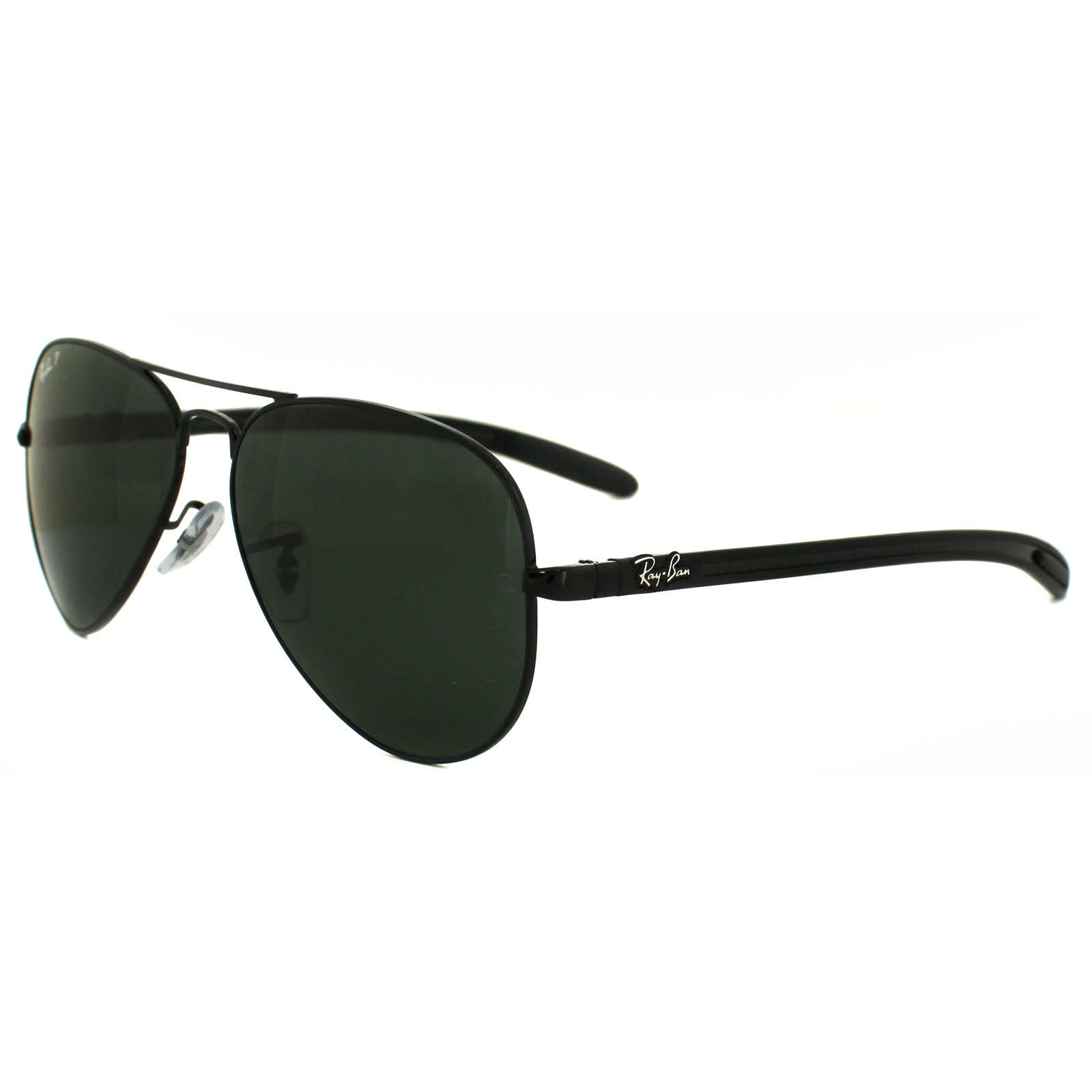 Polarized Ray Ban Sunglasses  ray ban sunglasses 8307 002 n5 black green polarized