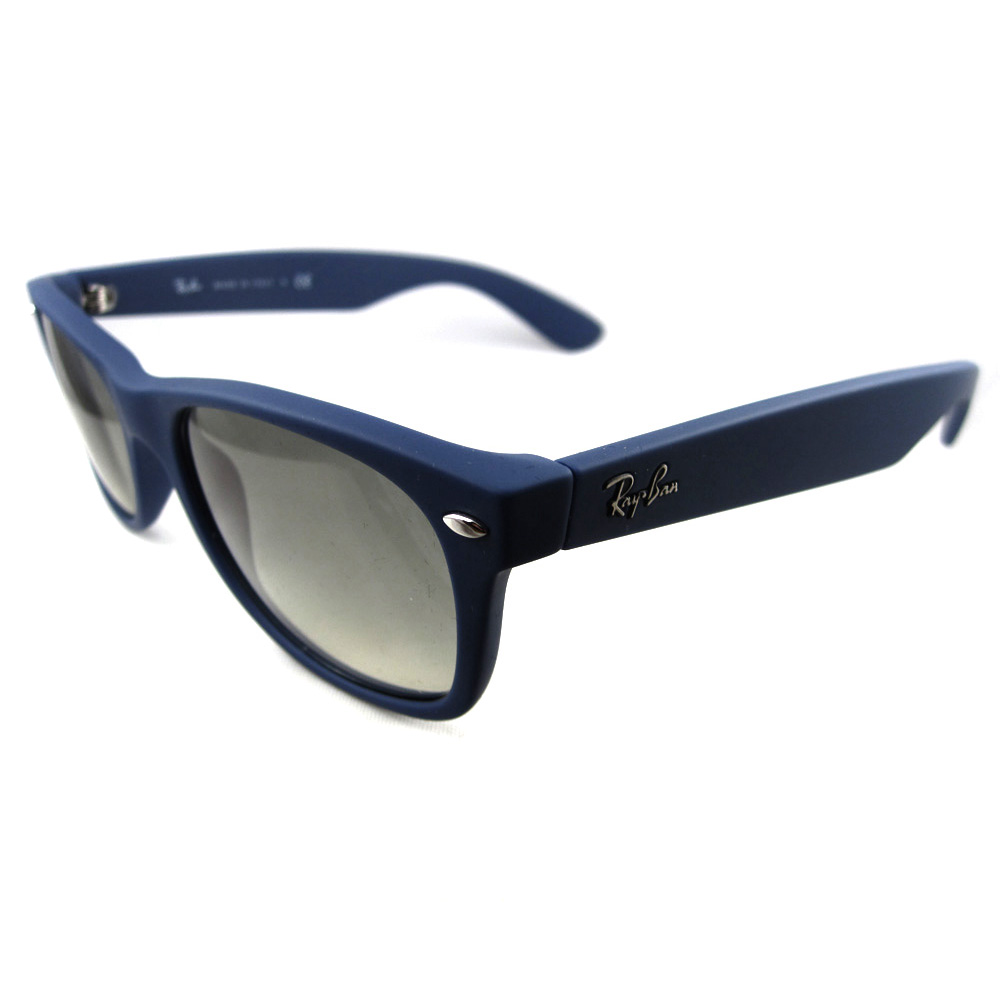 ray ban sunglasses new wayfarer 2132 811 32 blue rubber ebay. Black Bedroom Furniture Sets. Home Design Ideas