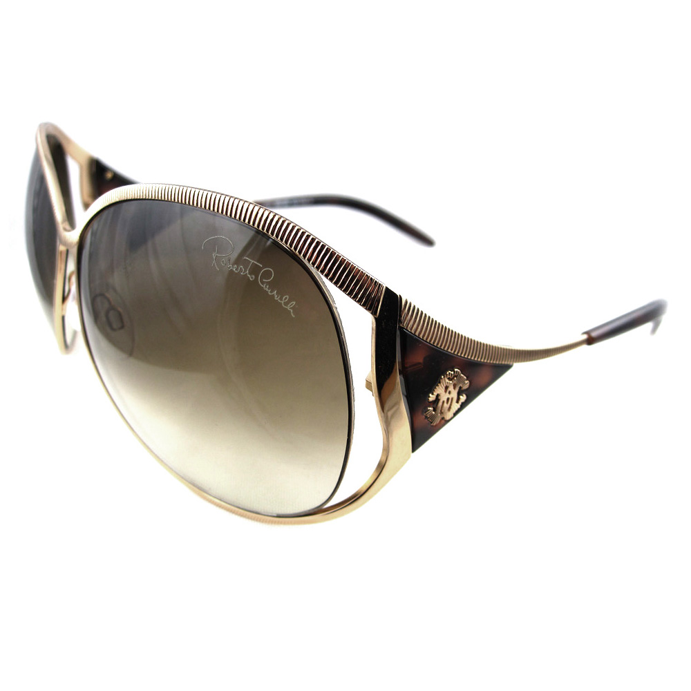 Roberto Cavalli Sunglasses Fresia 574 28P Gold Brown ...