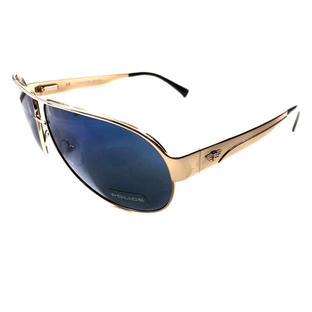 Gold Frame Police Sunglasses : Police Sunglasses 8511 300B Gold Blue eBay