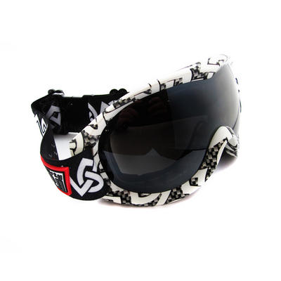 Dirty Dog Goggles Rack 54069 White Black with Grey Flash Mirror Preview