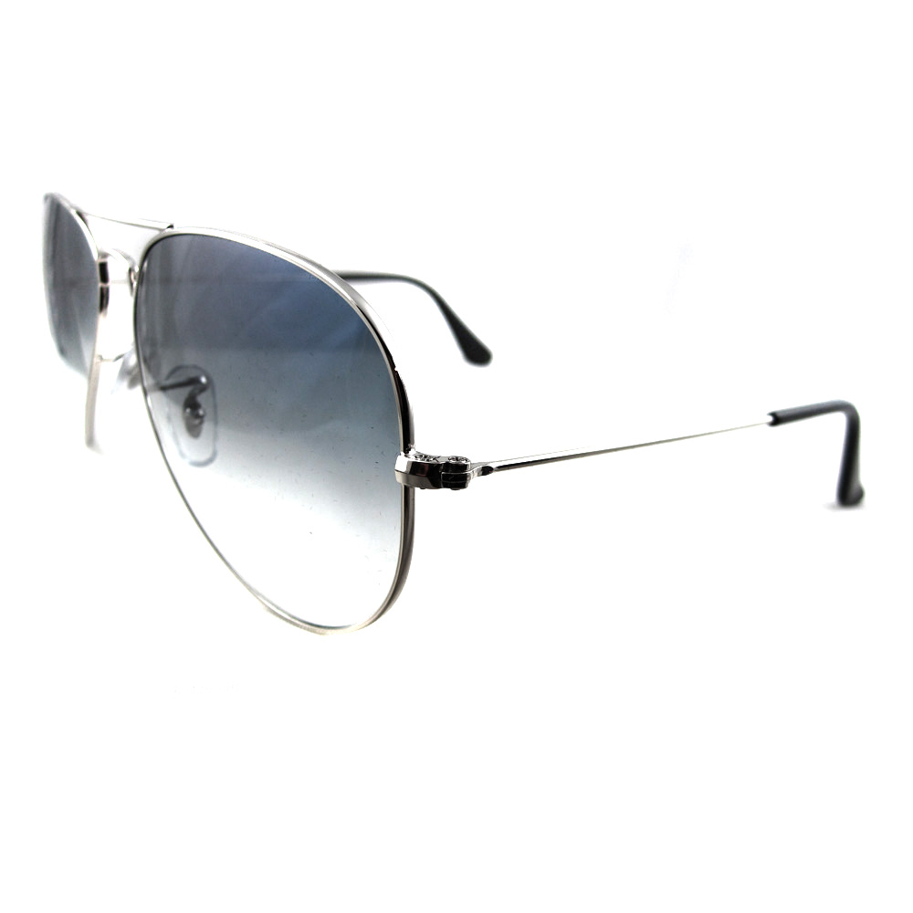 Rayban Sunglasses Aviator 3025 Silver Gradient Light Blue 003/3F