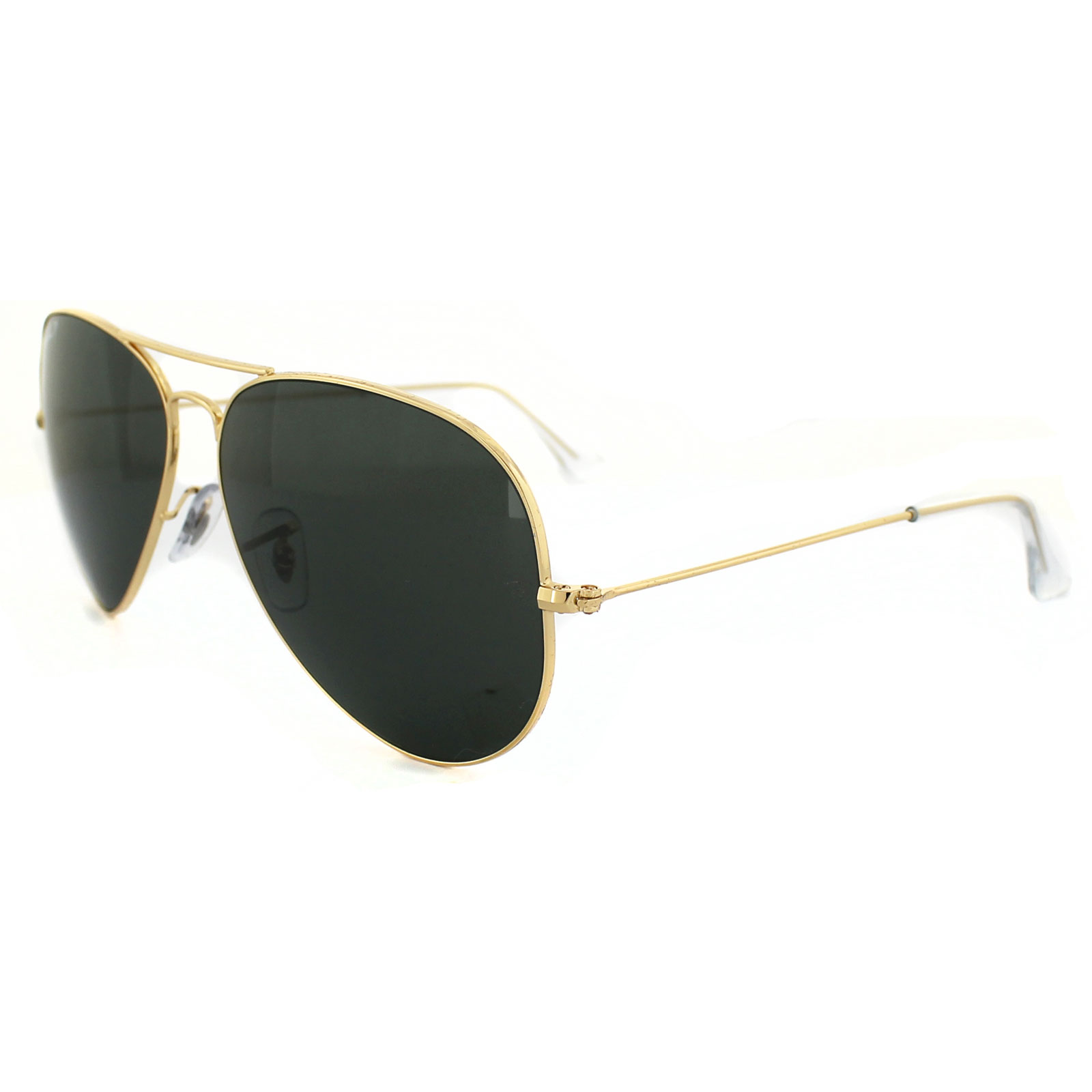 ray ban sunglasses aviator 3025 001 58 gold green polarized large 62mm ebay. Black Bedroom Furniture Sets. Home Design Ideas