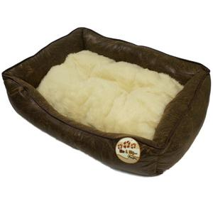 ME-MY-LUXURY-DOG-PET-BEDS-FAUX-LEATHER-SOFT-FLEECE-CUSHION-FULLY-WASHABLE