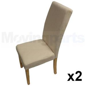 Cream Faux Suede Material Chairs Dining Room Furniture