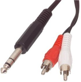 red white rca output stereo speaker audio cable adaptor ebay