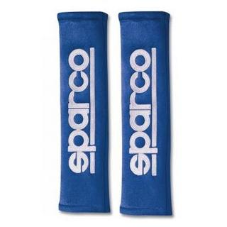 Sparco Blue Alcantara Seatbelt Harness Pads