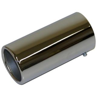 70mm Chrome Rolled Edge Car Exhaust Trim Finisher