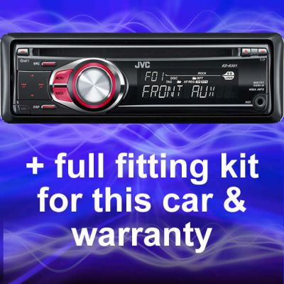 SEAT LEON REPLACEMENT JVC IN CAR CD PLAYER/RADIO/STEREO Enlarged Preview