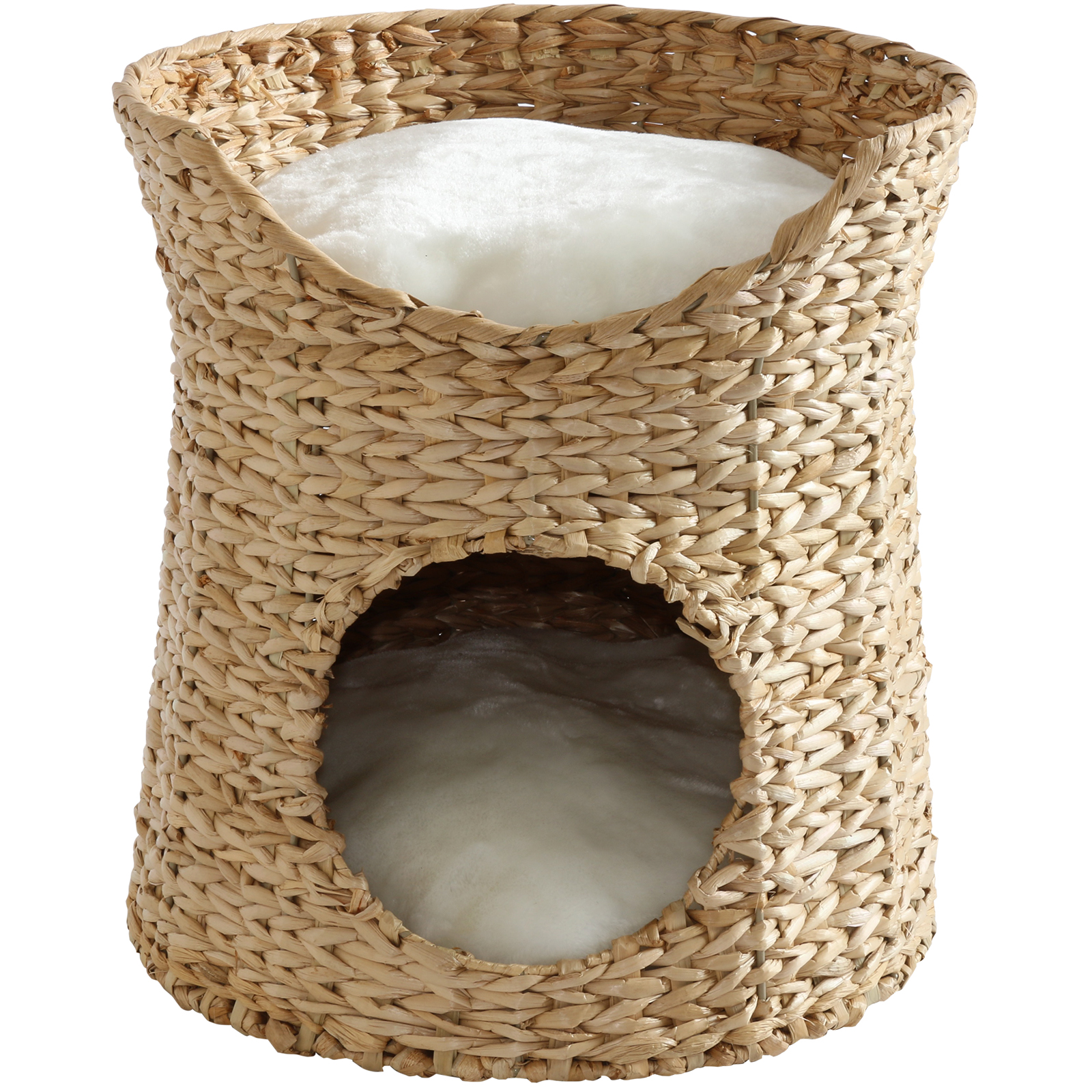 How To Weave A Cat Basket : Me my tier woven cat kitten bed raised twin basket