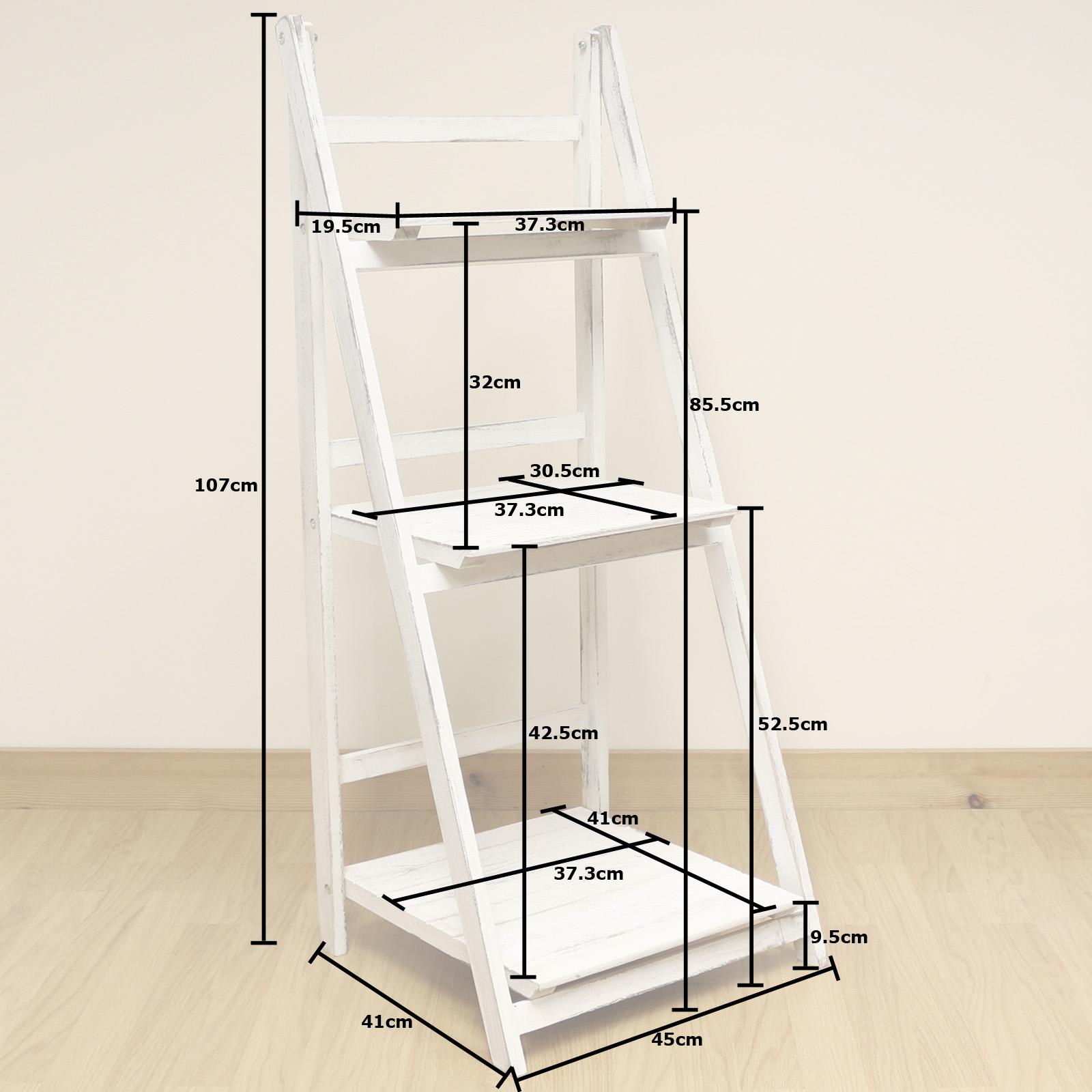 3 tier white wash ladder shelf display unit free standing folding bookshelves furniture folding bookshelves furniture