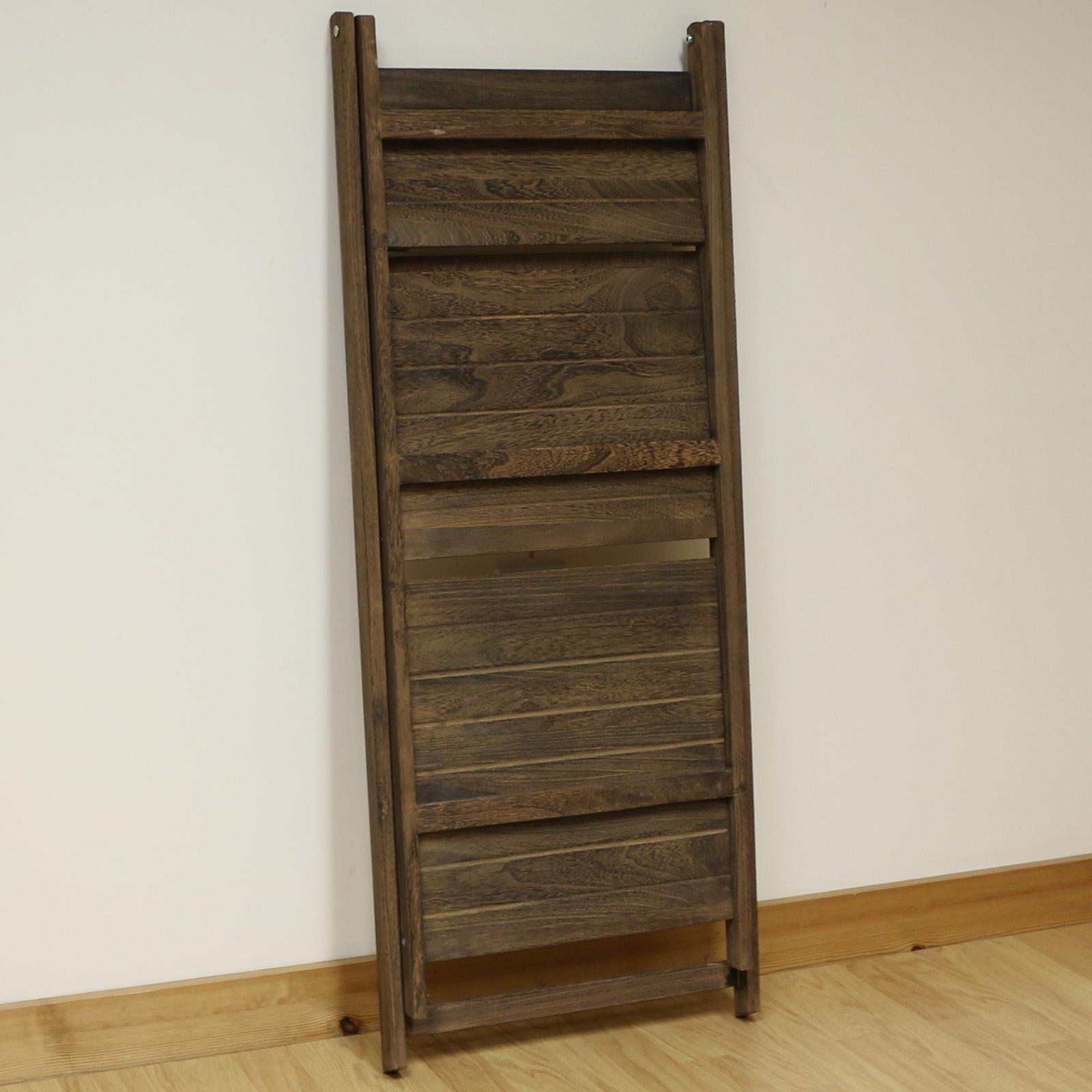3 Tier Brown Ladder Shelf Display Unit Free Standing