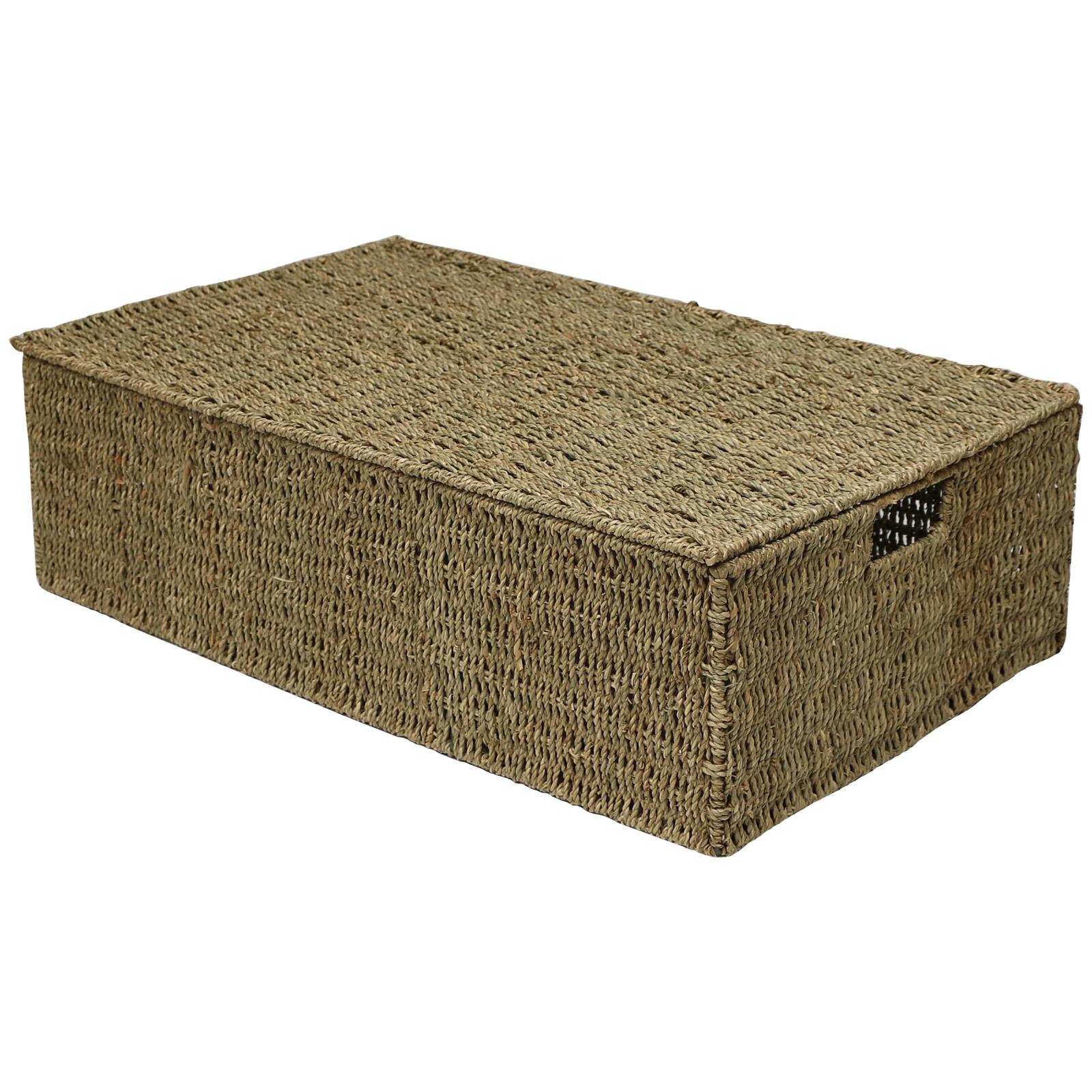 Hartleys Wicker Seagrass Under Bed Storage Box Bedding