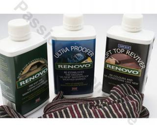 Renovo Canvas Hood Cleaner & Ultraproofer & Blue Reviver & Cloth