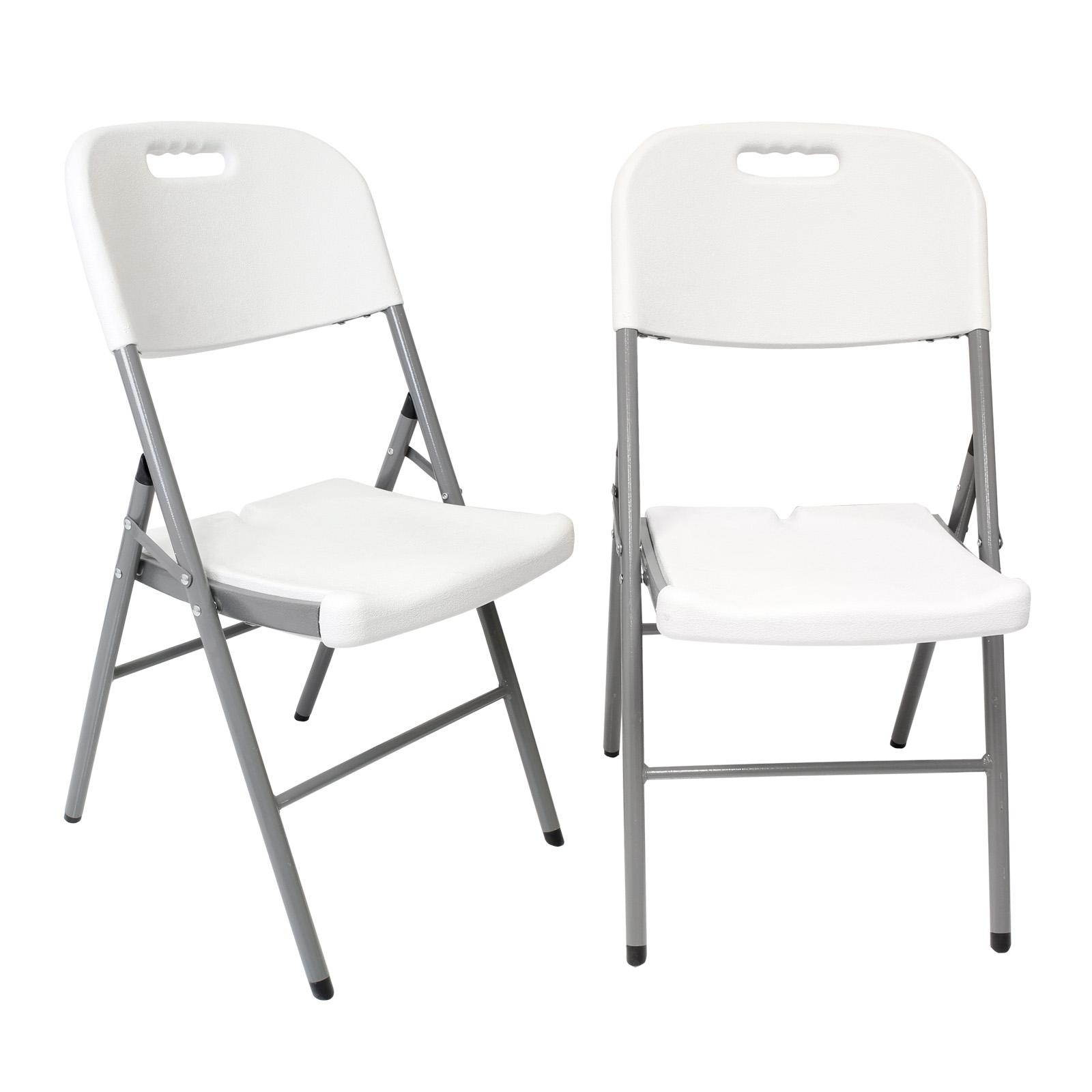2 x exterior plegable sillas para jard n picnic camping - Sillas de jardin de plastico ...