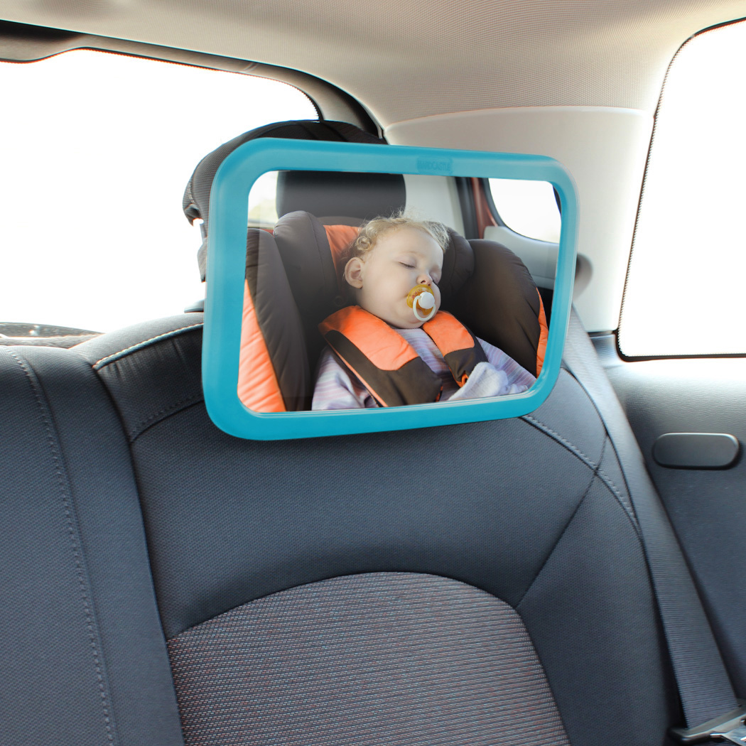 blue large adjustable wide view rear baby child seat car headrest safety mirror ebay. Black Bedroom Furniture Sets. Home Design Ideas