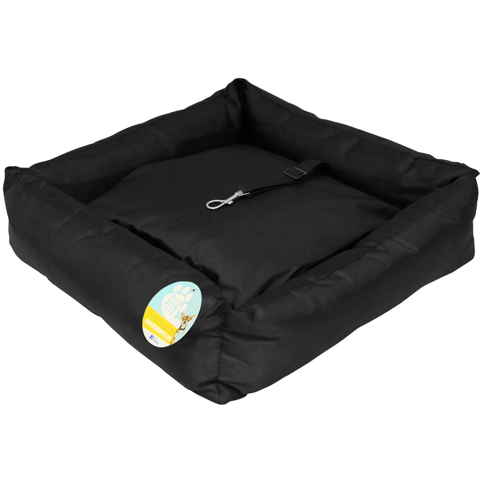 me my black pet dog puppy car seat bed comfort travel mat cushion protector ebay. Black Bedroom Furniture Sets. Home Design Ideas