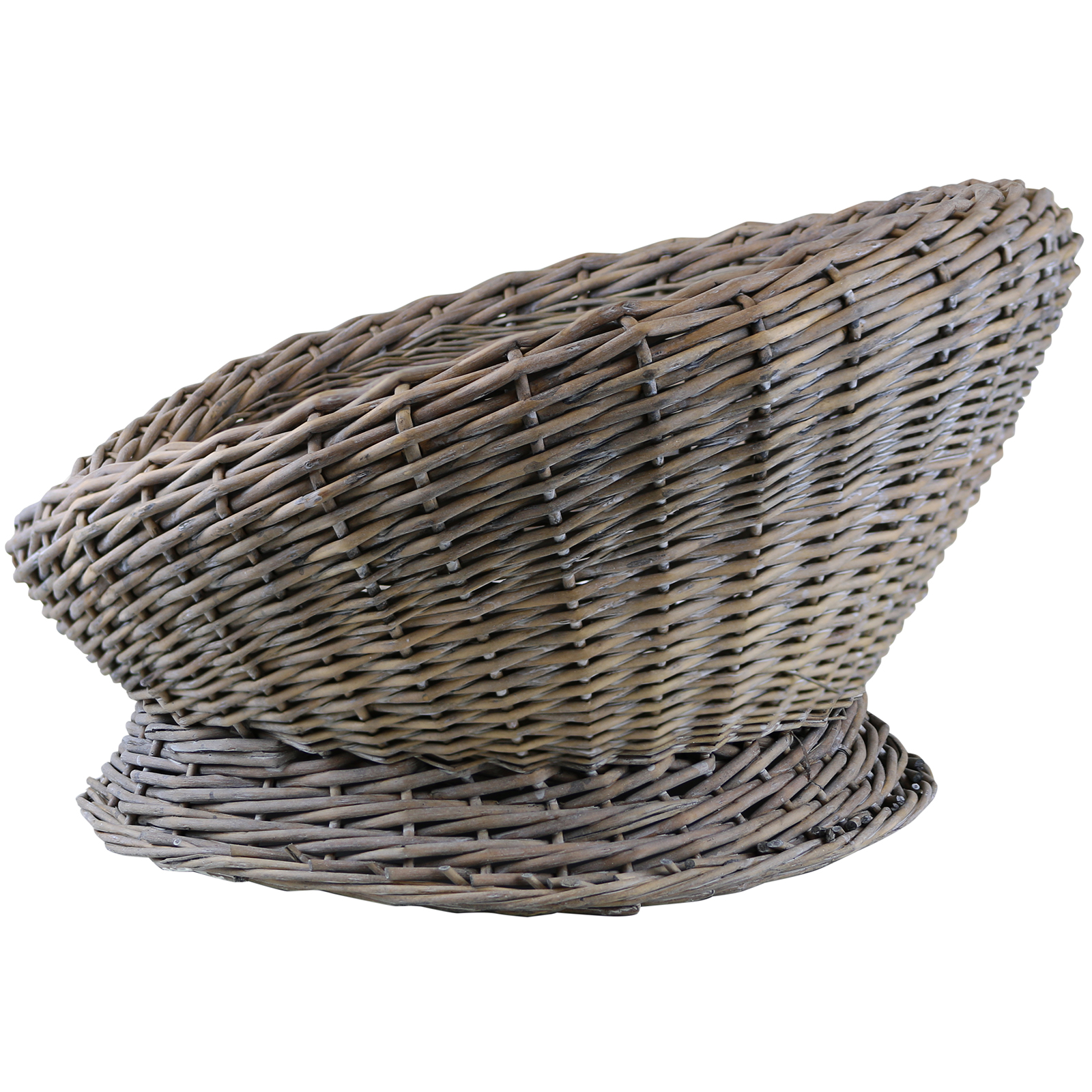 Grey Wicker Basket Uk : Me my woven wicker cat kitten round pet bed basket igloo