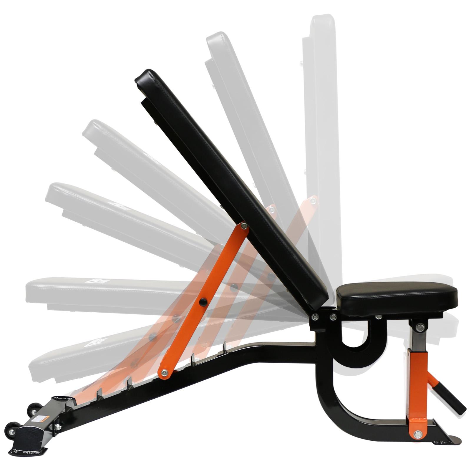 Mirafit Heavy Duty Adjustable Fid Weight Bench Flat