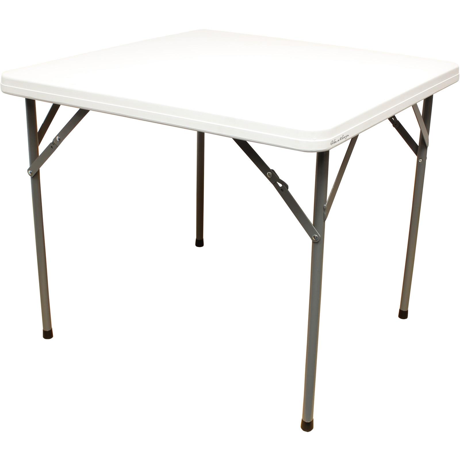 sale hartleys 3ft square white folding table for picnic kitchen damaged 397 ebay. Black Bedroom Furniture Sets. Home Design Ideas