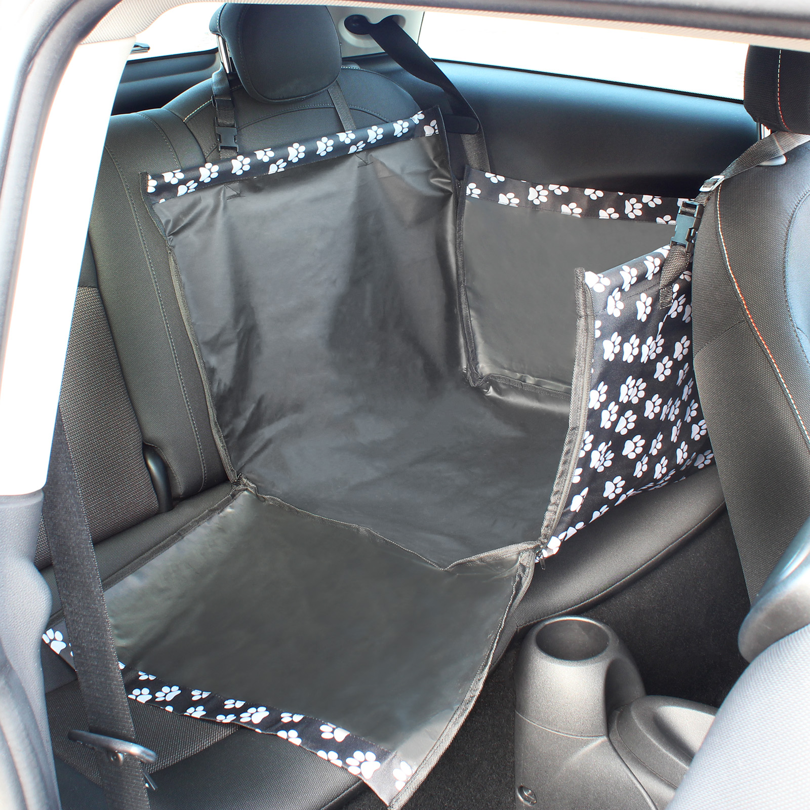 me my small rear waterproof car seat liner protector hammock pet dog cover mat ebay. Black Bedroom Furniture Sets. Home Design Ideas