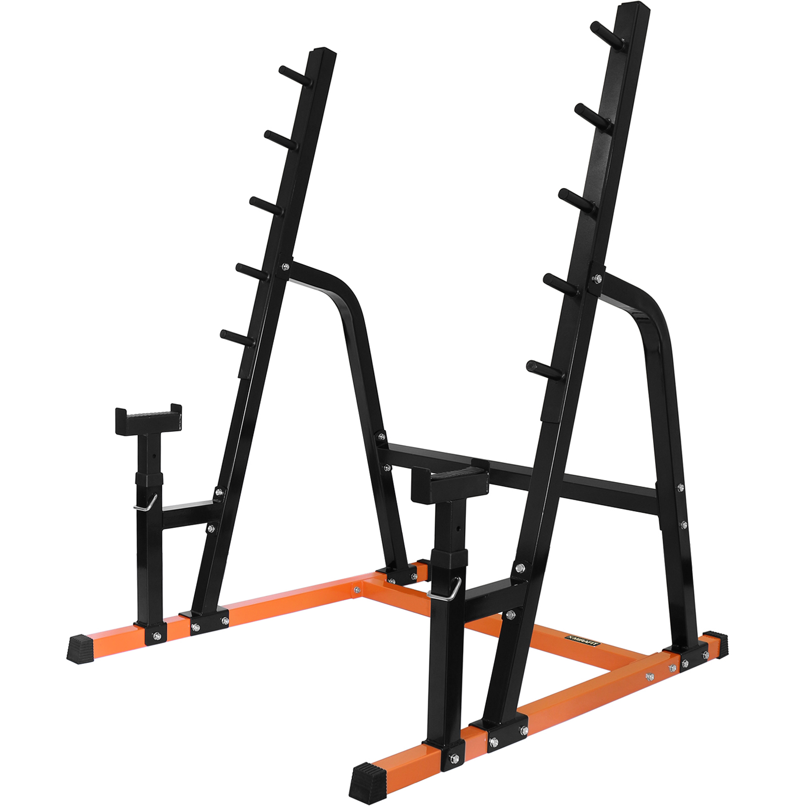 Mirafit weight lifting power rack gym bar stand with bench for Stand pub