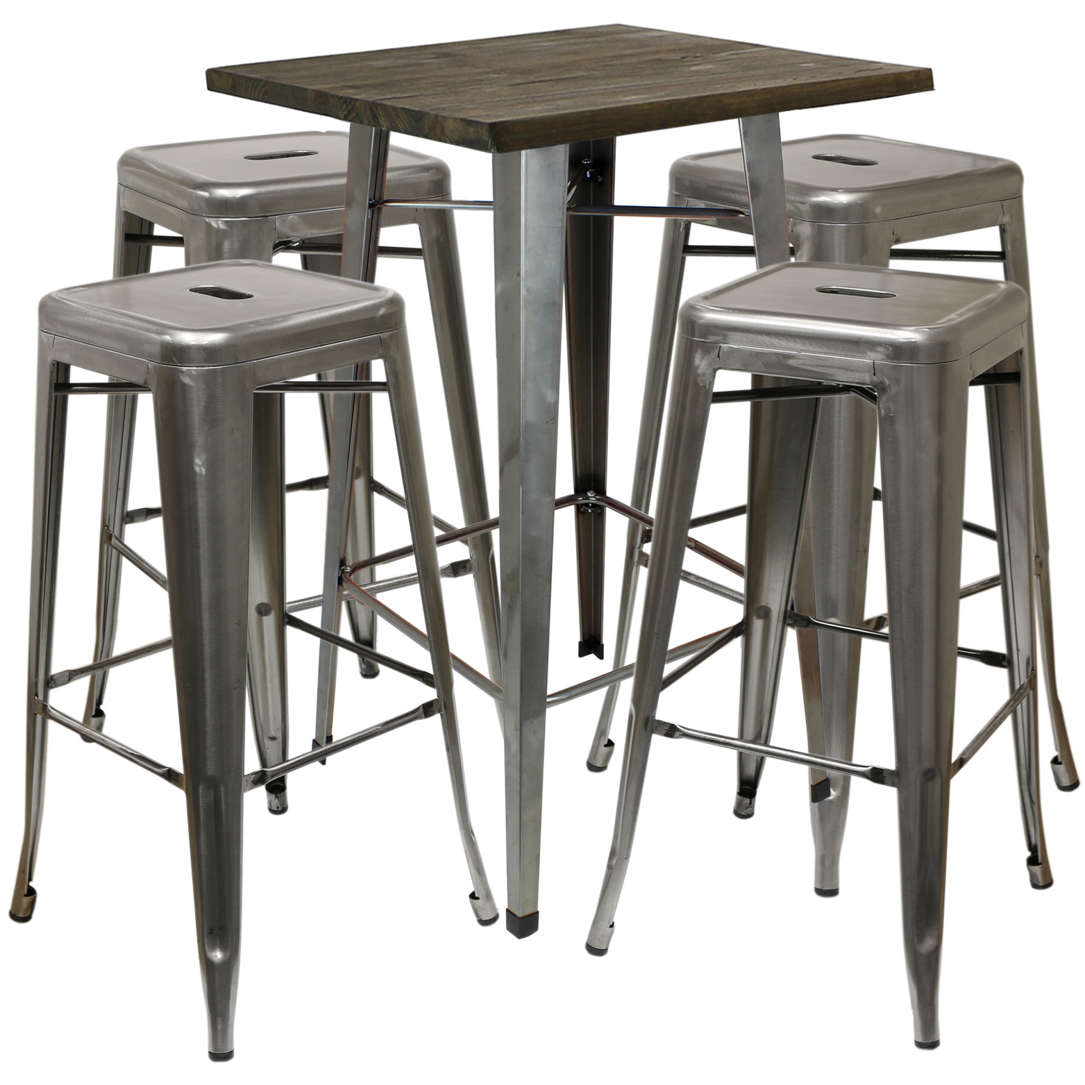 HARTLEYS WOOD TOP INDUSTRIAL SQUARE BISTRO TABLE  : gunmetal4 from www.ebay.co.uk size 1563 x 1563 jpeg 386kB