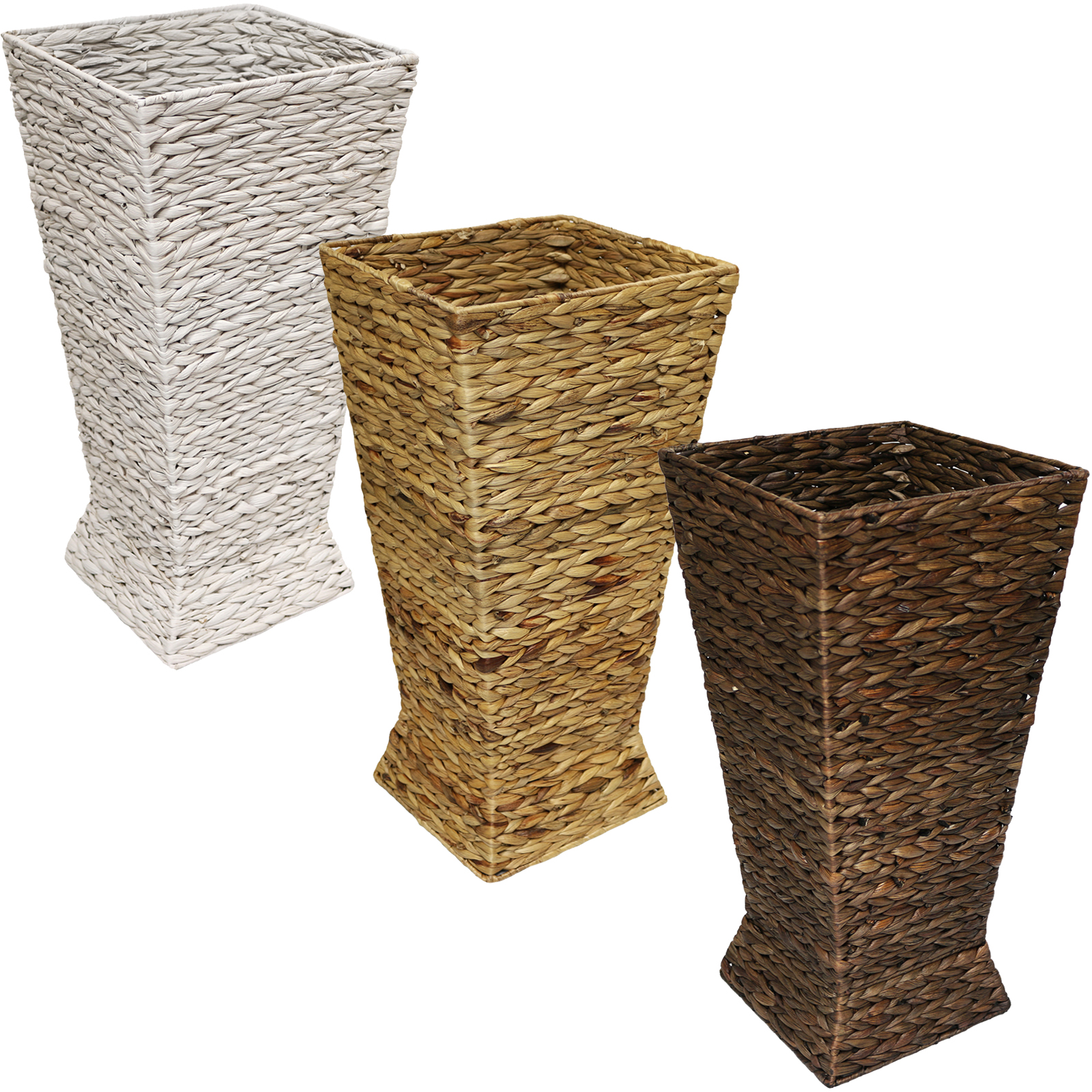 Hartleys Woven Wicker Hallway Umbrella Basket Stand