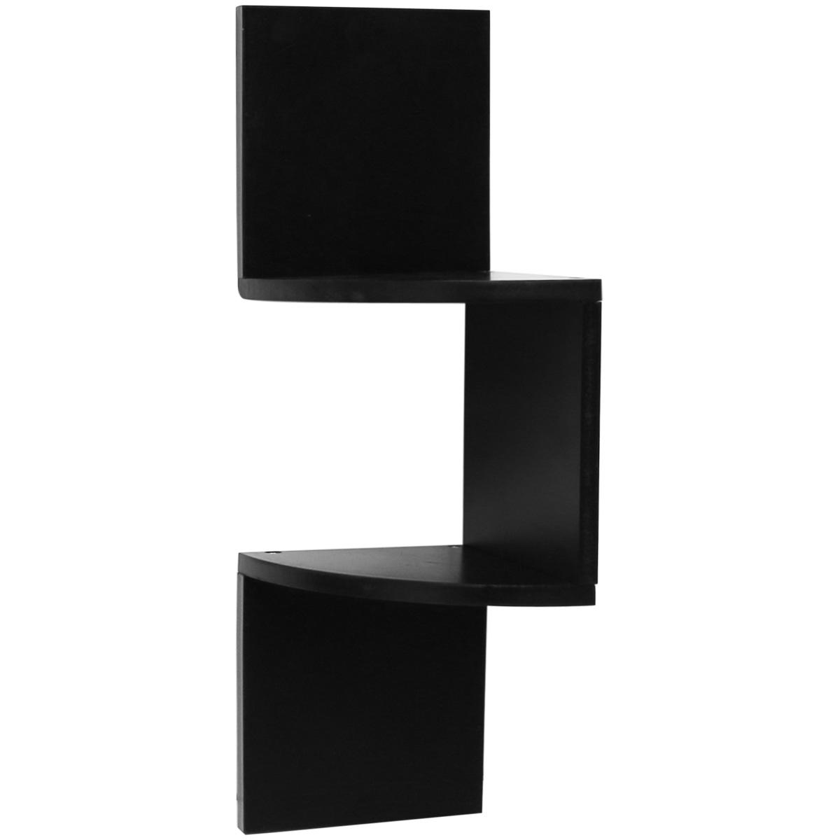 Hartleys zig zag wood floating corner wall shelf unit for Out of the box corner wall shelves