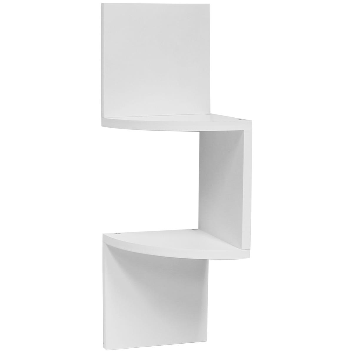 Hartleys zig zag wood floating corner wall shelf unit modern display shelving ebay - Contemporary corner shelves ...
